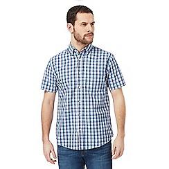 Maine New England - Blue checked print regular fit shirt