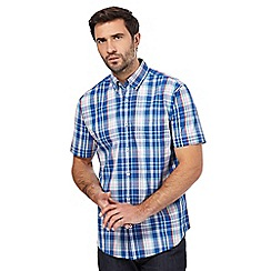 Maine New England - Multi-coloured check print short-sleeve shirt