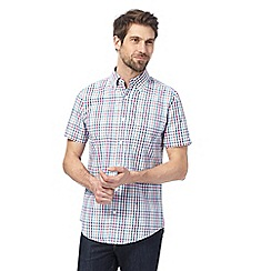 Maine New England - Multi-coloured checked tailored fit shirt