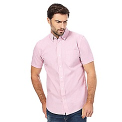 Maine New England - Pale pink stripe print short-sleeved shirt