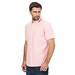 Maine New England - Peach marl print short sleeved shirt