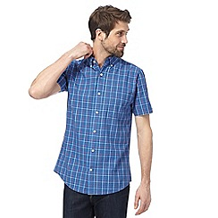 Maine New England - Blue checked tailored fit shirt
