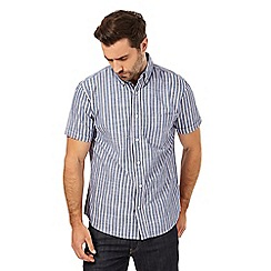 Maine New England - Navy striped regular fit shirt