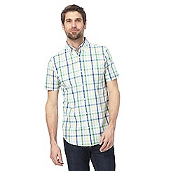 Maine New England - Big and tall multi-coloured large gingham print tailored fit shirt