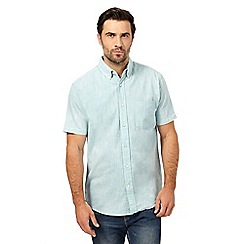 Maine New England - Big and tall pastel blue short sleeve shirt