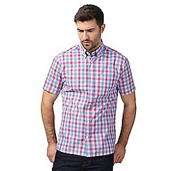 Maine New England - Big and tall pink and blue checked shirt
