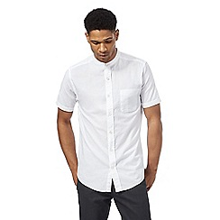 Maine New England - White short sleeve textured shirt