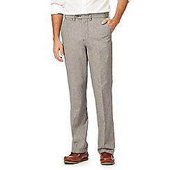 Maine New England - Black puppytooth linen blend trousers