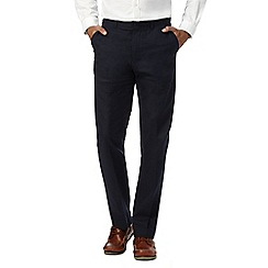 Maine New England - Navy plain linen trousers