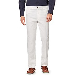 Maine New England - White linen blend trousers