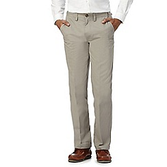 Maine New England - Grey printed diamond chinos
