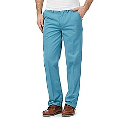 Maine New England - Aqua blue tailored fit chino's