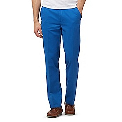 Maine New England - Big and tall bright blue tailored fit chino's