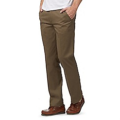 Maine New England - Big and tall light brown tailored fit chino's
