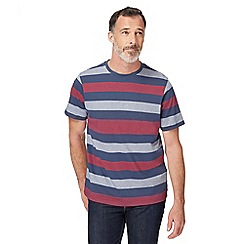 Maine New England - Navy and red striped t-shirt