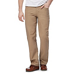 Maine New England - Big and tall taupe five pocket trousers