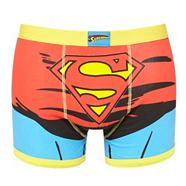 Red 'Superman' printed trunks