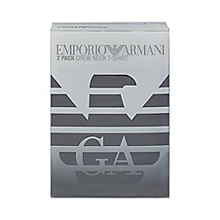 Emporio Armani - Pack of two assorted crew neck t-shirts