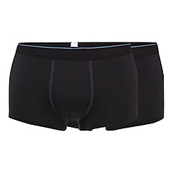 Sloggi - Pack of three black hipster trunks