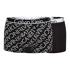 Calvin Klein - Pack of two black logo print trunks