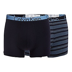 Calvin Klein - Pack of two navy 'ID' trunks
