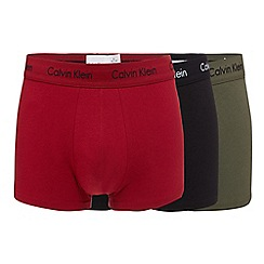 Calvin Klein - Pack of three assorted low rise trunks
