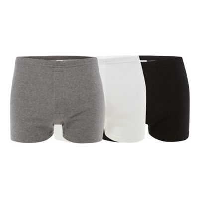 Pack of three multi plain boxers