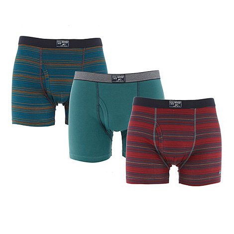 Mantaray - Pack of three dark green fine striped trunks