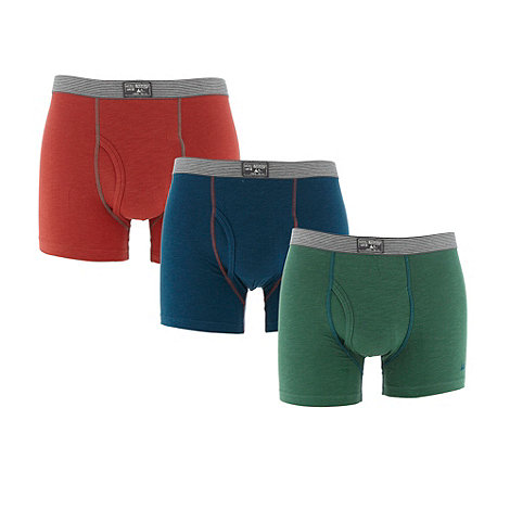 Mantaray - Pack of three green red and blue keyhole trunks
