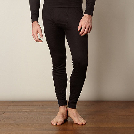 Maine New England - Black thermal long men+s leggings