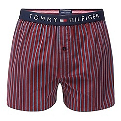 Tommy Hilfiger - Wine red 'Icon' striped boxers