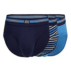 Jockey - Pack of three assorted plain and striped briefs