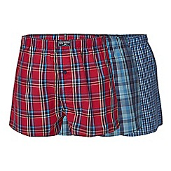 Mantaray - Big and tall pack of three checked print boxers