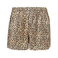 Thomas Nash - Gold leopard silk boxers