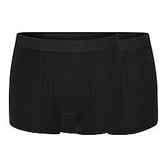 J by Jasper Conran - Pack of two black modal blend trunks