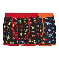 Red Herring - Pack of two multi-coloured robot print trunks