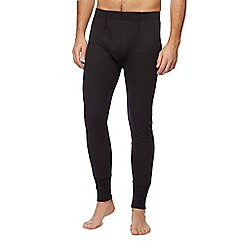 Maine New England - Big and tall black long thermal bottoms