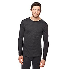 Maine New England - Big and tall black brushed thermal long sleeved top