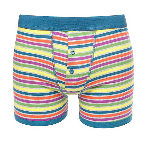 Red Herring - Dark turquoise bright striped boxers