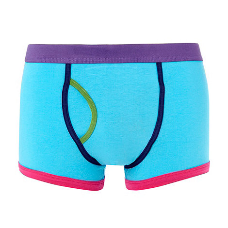 Red Herring - Turquoise colour block keyhole trunks