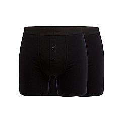 J by Jasper Conran - Designer pack of two black soft stretch boxers