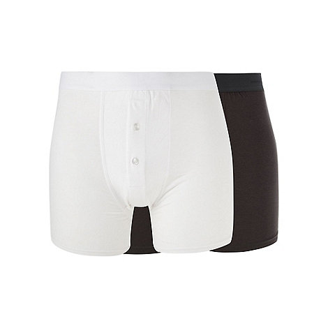 J by Jasper Conran - Designer pack of two white and dark grey boxers