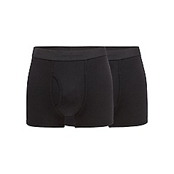 J by Jasper Conran - Big and tall designer pack of two black keyhole trunks