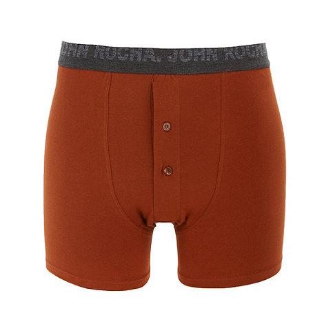 RJR.John Rocha - Designer dark orange boxers