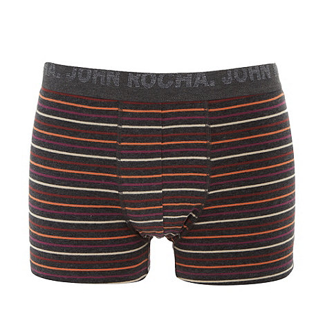 RJR.John Rocha - Designer dark grey fine striped hipster trunks