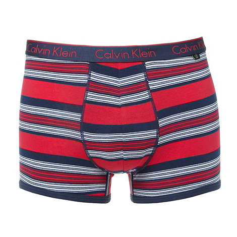 Calvin Klein - Red multi striped trunks