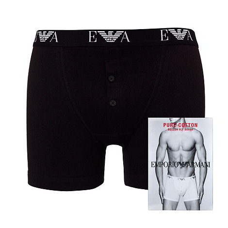 Emporio Armani - Black pure cotton boxers