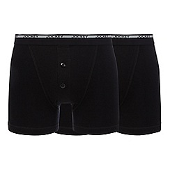 Jockey - Big and tall pack of two black boxers