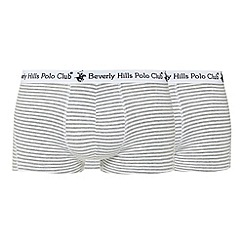 Beverly Hills Polo Club - Pack of two grey striped trunks