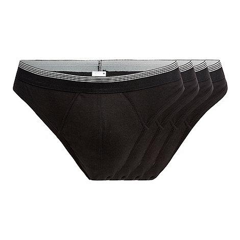 Thomas Nash - Pack of four black thongs